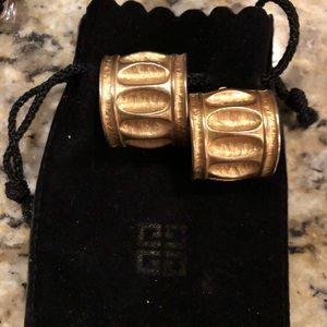 Givenchy Column Earrings. (Large)
